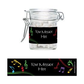 Dancing Music Personalized Glass Apothecary Jars (10 Count)
