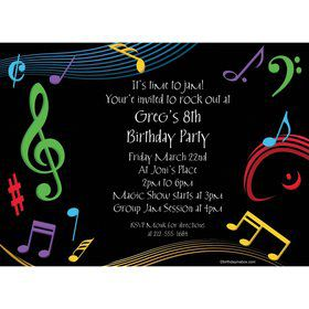 Dancing Music Personalized Invitation (Each)