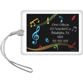 Dancing Music Personalized Luggage Tag (Each)