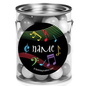 Dancing Music Personalized Mini Paint Cans (12 Count)