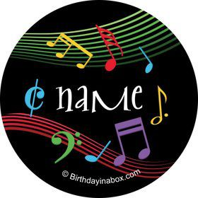 Dancing Music Personalized Mini Stickers (Sheet of 20)