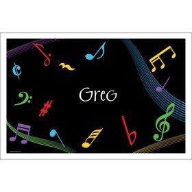 Dancing Music Personalized Placemat (Each)