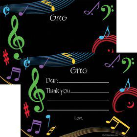 Dancing Music Personalized Thank You (Each)
