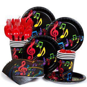 Dancing Music Standard Birthday Party Tableware Kit Serves 8