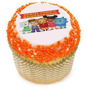 "Daniel Tiger Neighborhood Friends 2"" Edible Cupcake Topper (12 Images)"