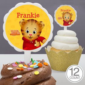 Daniel Tiger's Neighborhood Personalized Cupcake Picks (12 Count)