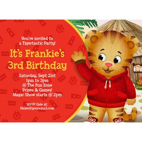 Daniel Tiger's Neighborhood Personalized Invitation (Each)