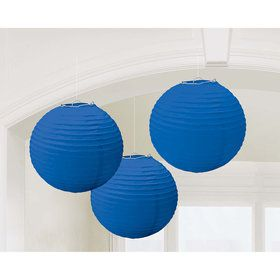 Dark Blue Paper Lantern Decorations (3 Count)
