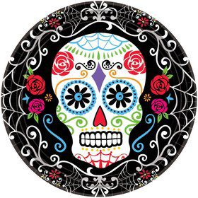 "Day of the Dead 10.5"" Luncheon Plates (18 Pack)"