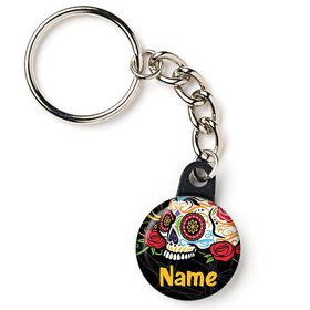 "Day of the Dead Personalized 1"" Mini Key Chain (Each)"