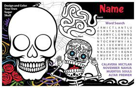 Day of the Dead Personalized Activity Mat (8 Count)
