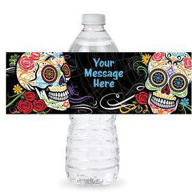 Day of the Dead Personalized Bottle Label (Sheet of 4)