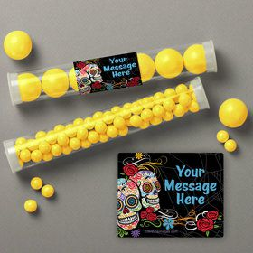 Day of the Dead Personalized Candy Tubes (12 Count)