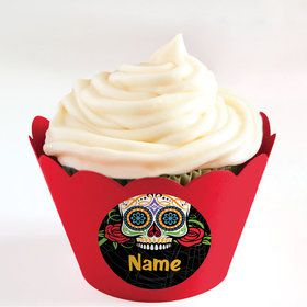 Day of the Dead Personalized Cupcake Wrappers (Set of 24)