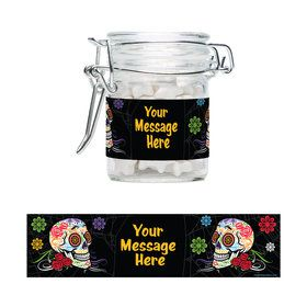 Day of the Dead Personalized Glass Apothecary Jars (12 Count)