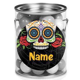 Day of the Dead Personalized Mini Paint Cans (12 Count)