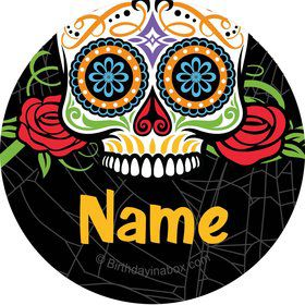 Day of the Dead Personalized Mini Stickers (Sheet of 20)