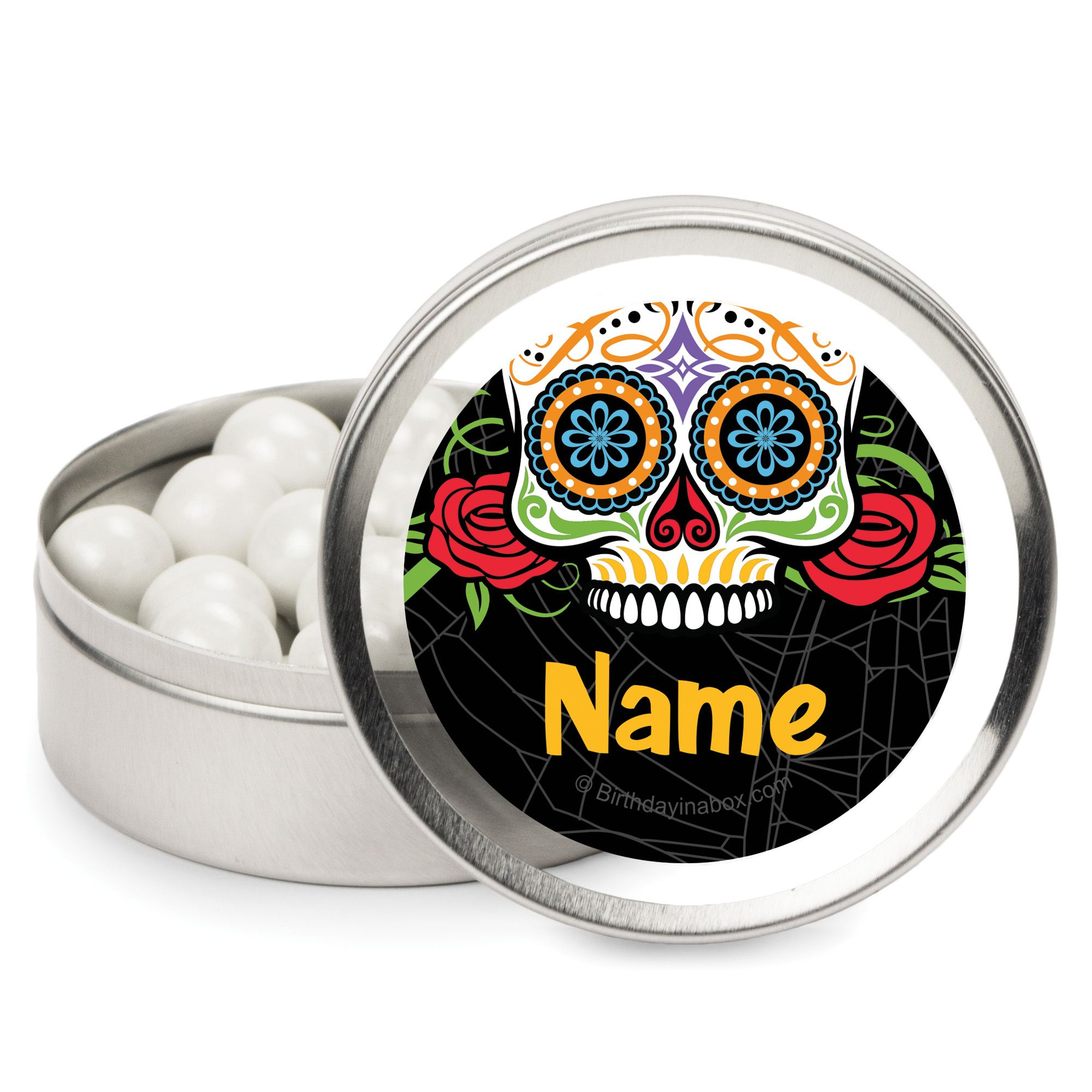 Day Of The Dead Personalized Mint Tins (12 Pack) BB1466MT