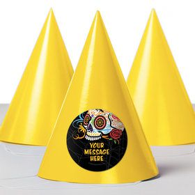 Day of the Dead Personalized Party Hats (8 Count)