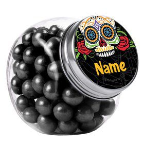 Day of the Dead Personalized Plain Glass Jars (12 Count)