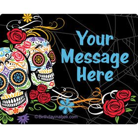 Day of the Dead Personalized Rectangular Stickers (Sheet of 15)