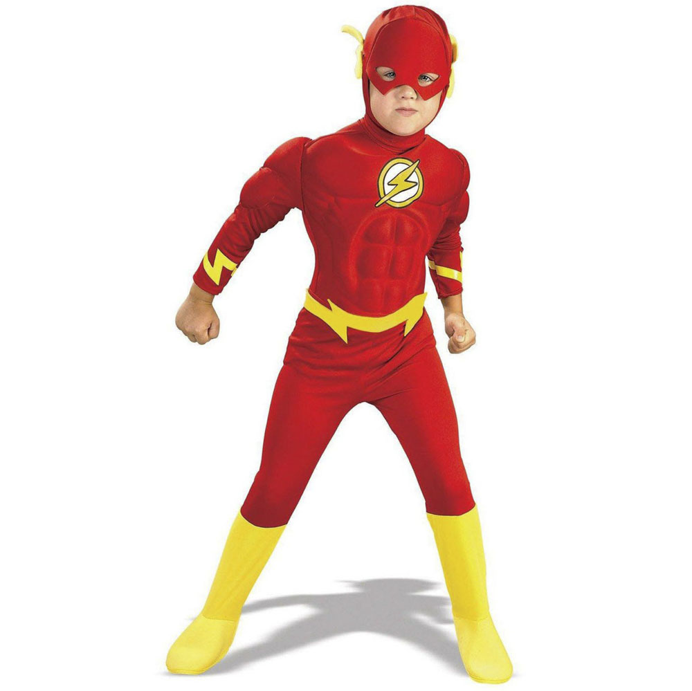 DC Comics The Flash Muscle Chest Deluxe Toddler/Child Costume photo