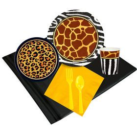 Safari Animal Adventure 16 Guest Party Pack