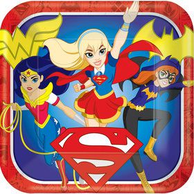 "DC Super Hero Girls 9"" Luncheon Plate (8 Count)"