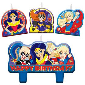 DC Super Hero Girls Birthday Candles
