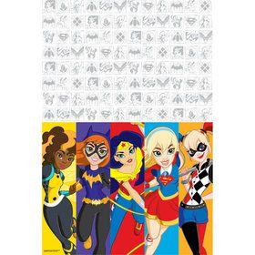DC Super Hero Girls Plastic Table Cover