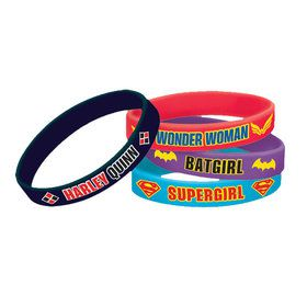 DC Super Hero Girls Rubber Bracelets (4 Count)
