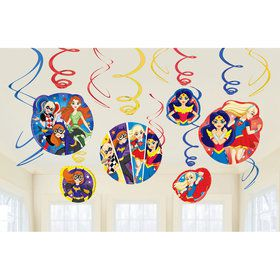 DC Super Hero Girls Swirl Decorations