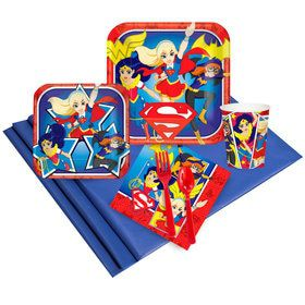 DC Superhero Girls Deluxe Tableware Kit (Serves 8)