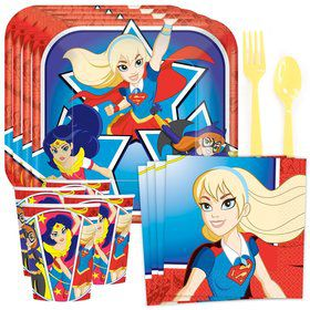 DC Superhero Girls Standard Tableware Kit (Serves 8)