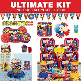 DC Superhero Girls Ultimate Tableware Kit (Serves 8)