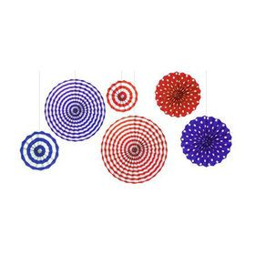 Decorative Paper Fans - Patriotic