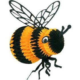 Decorative Tissue Bee (each)