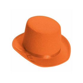 Deluxe Felt Orange Top Hat