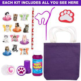 Deluxe Kitty Cat Party Favor Kit (for 1 Guest)