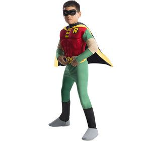 Deluxe Muscle Chest Robin Kids Costume