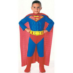 Deluxe Muscle Chest Superman Toddler Costume