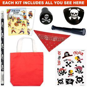 Deluxe Pirate Favor Kit (for 1 Guest)
