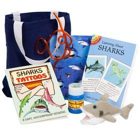 Deluxe Shark Party Favor Kit (for 1 Guest)