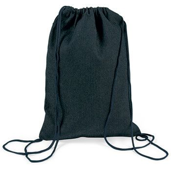 Denim Drawstring Backpack (each) - Party Supplies