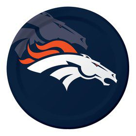 "Denver Broncos 9"" Luncheon Plates (8 Count)"