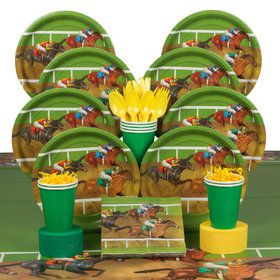 Derby Days Deluxe Party Tableware Kit (Serves 8)
