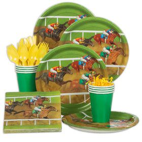 Derby Days Standard Party Tableware Kit (Serves 8)