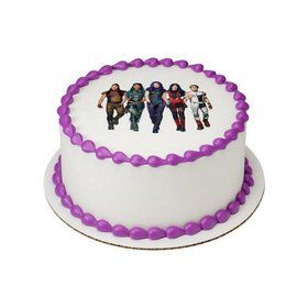 "Descendants 3 VK Squad 7.5"" Round Edible Cake Topper"