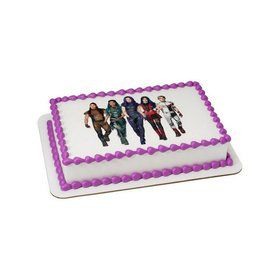 Descendants 3 VK Squad Quarter Sheet Edible Cake Topper