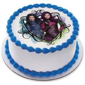 "Descendants 7.5"" Round Edible Cake Topper (Each)"